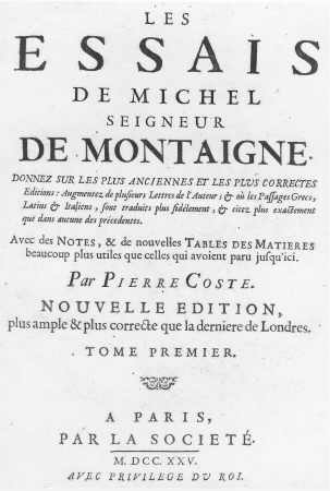 montaigne essay on cannibalism Montaigne s of cannibals essay - 541 words shakespeare uses montaigne's essay on cannibals (as translated by john florio) in , notably at the point when the good old gonzalo tries to cheer up king alonso by describing the ideal commonwealth he would institute on the island (21152-73.
